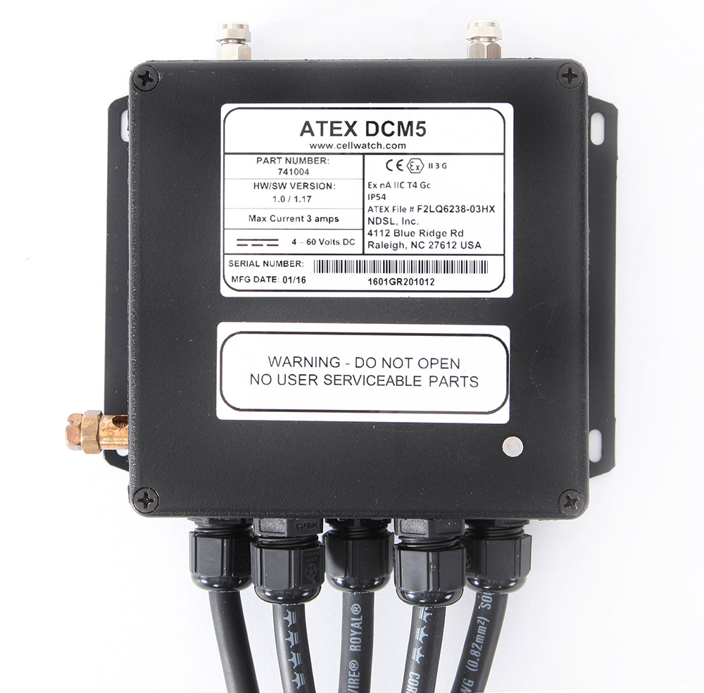 ATEX Data Collection Module 5 (DCM5) meets ATEX regulations for use in hazardous explosive atmospheres.